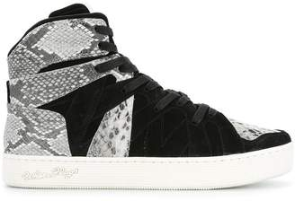 White Flags Whiteflags panel embossed hi-top sneakers