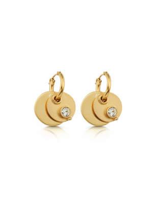 Wasson Fine twin disc earrings