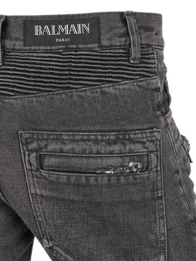 Balmain 18cm Vintage Wash Biker Jeans