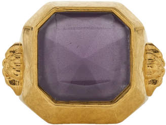 Versace Gold and Purple Gem Ring