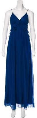 Rebecca Taylor Sleeveless Satin Maxi Dress
