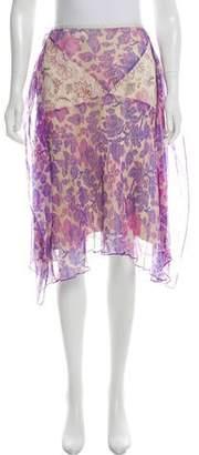Diane von Furstenberg Vicky Knee-Length Silk Skirt