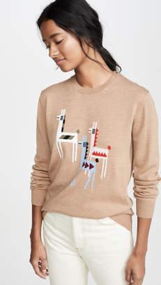 Markus Lupfer Natalie Intarsia Llama Sweater