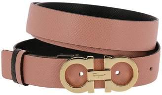 Salvatore Ferragamo Belt Belt Buckle Gancini In Real Leather Score Adjustable And Reversible