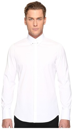 DSQUARED2 - Pin Collar Stretch Poplin Button Up Men's Long Sleeve Button Up $485 thestylecure.com