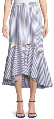Tabitha Prose & Poetry Striped High-Low Midi Skirt