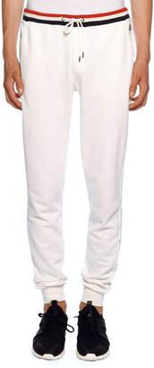 Moncler Men's Lounge Pants with Tricolor Trim