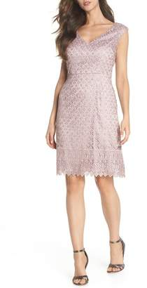 Adrianna Papell Guipure Lace Dress (Regular & Petite)
