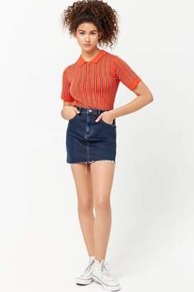 Forever 21 Distressed Denim Skirt
