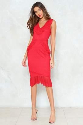 Nasty Gal Lace Face It Midi Dress