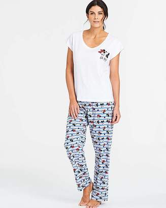 Disney Minnie Blue Stripe Glitter Pyjama Set e1f11f587