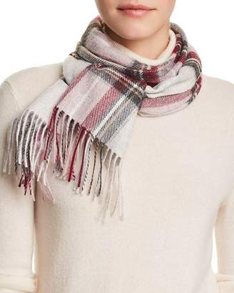 Bloomingdale's C by Exploded Plaid Cashmere Scarf - 100% Exclusive