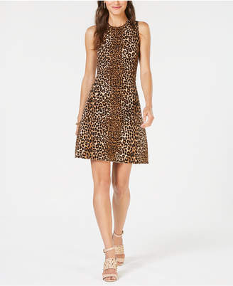 Michael Kors Leopard-Print Sweater Dress, In Regular & Petite Sizes