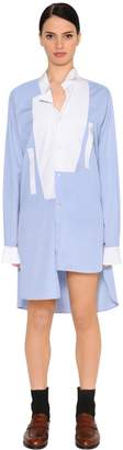 Loewe Asymmetrical Cotton Shirt Dress