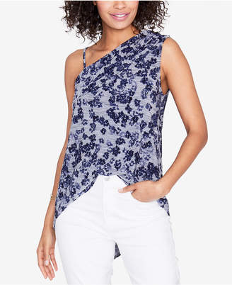 Rachel Roy Floral-Print One-Shoulder Top, Created for Macy's