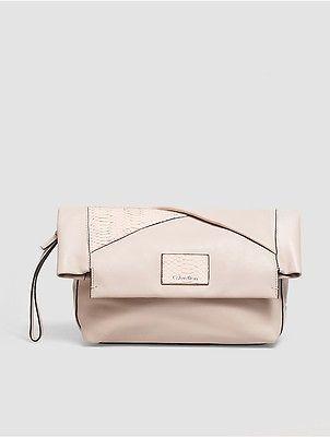 Calvin KleinCalvin Klein Womens Jillian Leather Clutch Frappe