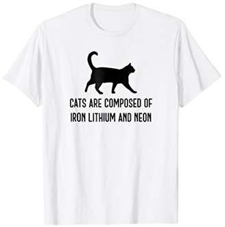 FeLiNe Cat Funny Chemistry Science Iron Lithium Neon T-Shirt