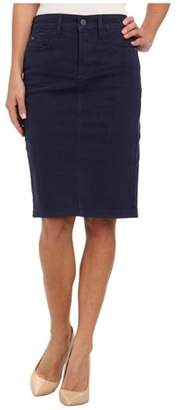 NYDJ Navy Twill Skirt