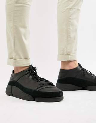 Clarks Trigenic Evo sneakers in black leather