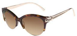 David Yurman Waverly Sunglasses, Tortoise/Gold