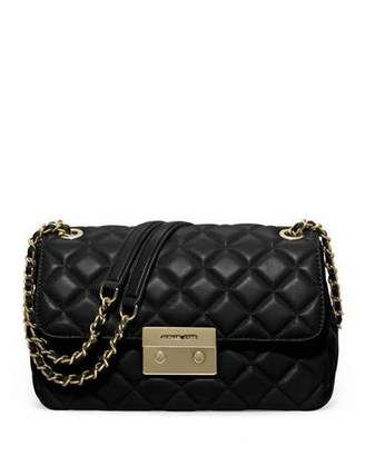 MICHAEL Michael Kors Sloan Large Quilted Leather Shoulder Bag, Black $328 thestylecure.com
