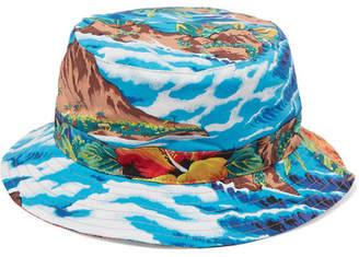 R 13 Printed Cotton-twill Bucket Hat - Blue