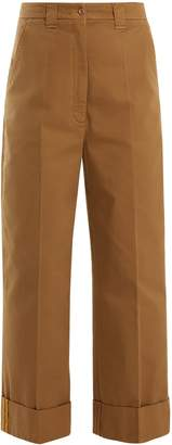 Acne Studios Madya wide-leg cotton chino trousers