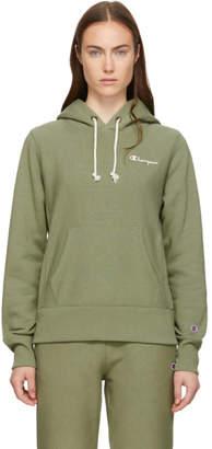 Champion Reverse Weave Green Small Logo Hoodie