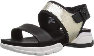 Geox Women's D Sand.SFINGE A Flat Sandals, Silver/White