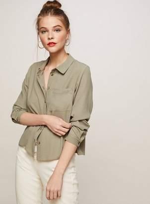 Miss Selfridge Boxy one pocket shirt