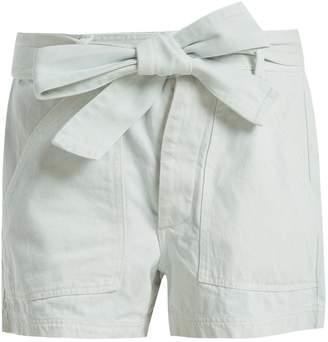Apiece Apart Merida high-rise denim shorts