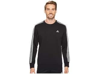 adidas Essentials 3S Brushed Fleece Crew Men's Clothing