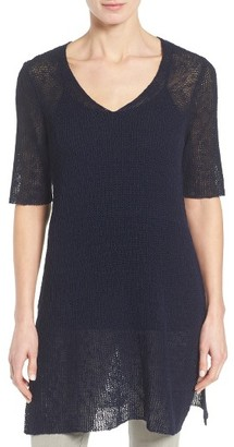 Women's Eileen Fisher Sheer Knit Tunic $248 thestylecure.com