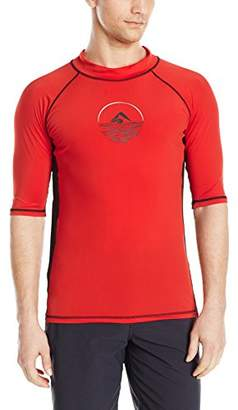 Kanu Surf Men's Viper UPF 50+ Sun Protective Rashguard Swim Shirt