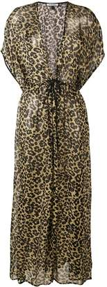 Fisico leopard print maxi dress