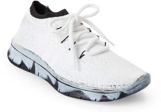 Maison Margiela White Crack Up Low-Top Sneakers