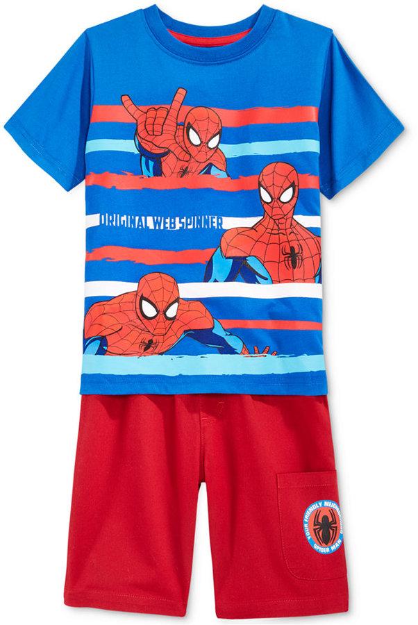 Nannette Spiderman 2-Pc. Shirt & Shorts Set, Toddler & Little Boys (2T-7)