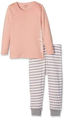 Name It Baby Girls' Nmfnightset Rose Tan Noos Pyjama Sets,18-24 Months