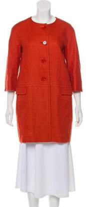 Max Mara 'S Collarless Button-Up Coat