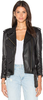 Understated Leather x REVOLVE Scrunch Sleeve MC Jacket