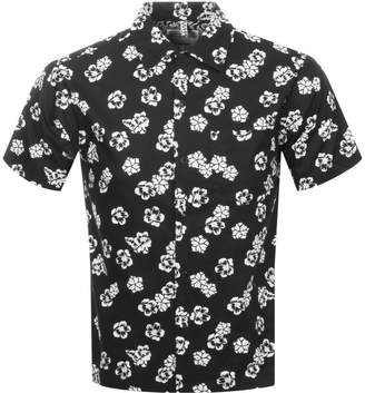 Replay Short Sleeved Floral Shirt Black
