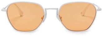 Linda Farrow X Alessandra Rich Square Metal Sunglasses - Womens - Orange