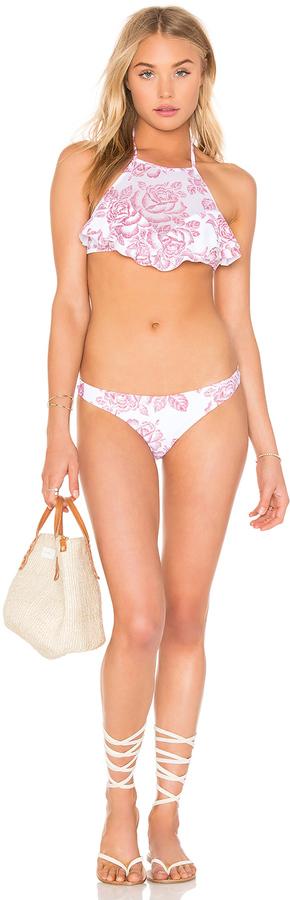 Zimmermann Roza Frill Halter Bikini Set