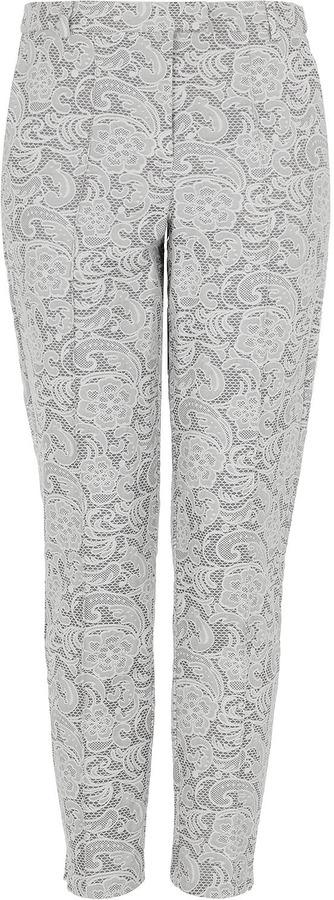Topshop Bonded Lace Cigarette Trousers