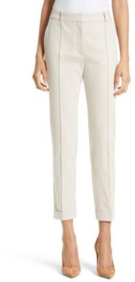 Women's Boss Acrila Stretch Cotton Ankle Trosuers $225 thestylecure.com