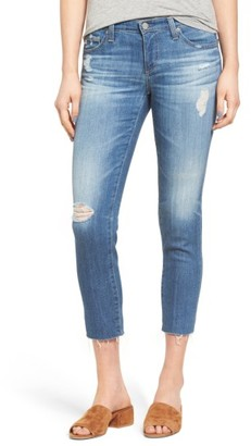 Women's Ag 'The Stilt' Destroyed Crop Skinny Jeans $215 thestylecure.com