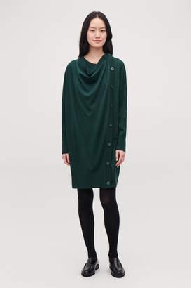 Cos BUTTON-UP MERINO WOOL DRESS