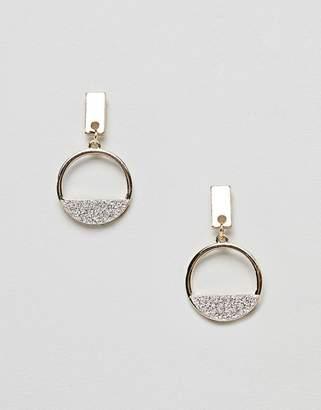 Missguided glitter drop earrings