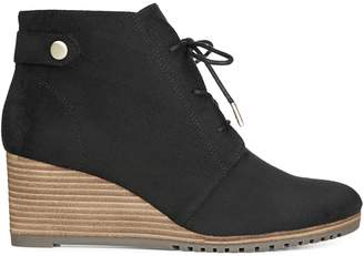 Dr. Scholl's Dr. Scholls American Life Style Conquer Lace-Up Wedge Booties