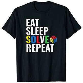 Eat Sleep Solve Repeat Rubik Cube T-shirt